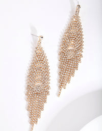 Gold Cupchain Waterfall Earring - link has visual effect only