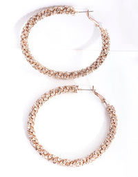 Gold Stone Cluster Hoop Earring - link has visual effect only
