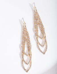 Gold Gradual Loop Cup Chain Earring - link has visual effect only