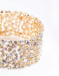 Gold Embellished Stone Stretch Bracelet - link has visual effect only