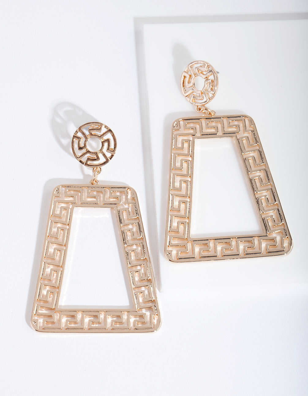 Gold Trapeze Geometric Earring