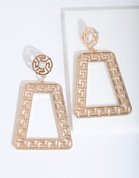 Gold Trapeze Geometric Earring - link has visual effect only