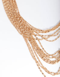 Gold Multi Row Necklace - link has visual effect only