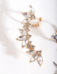 Gold Navette Ear Cuff & Earring Pack - link has visual effect only