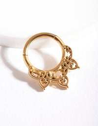 Gold Bohemian Clicker Earring - link has visual effect only