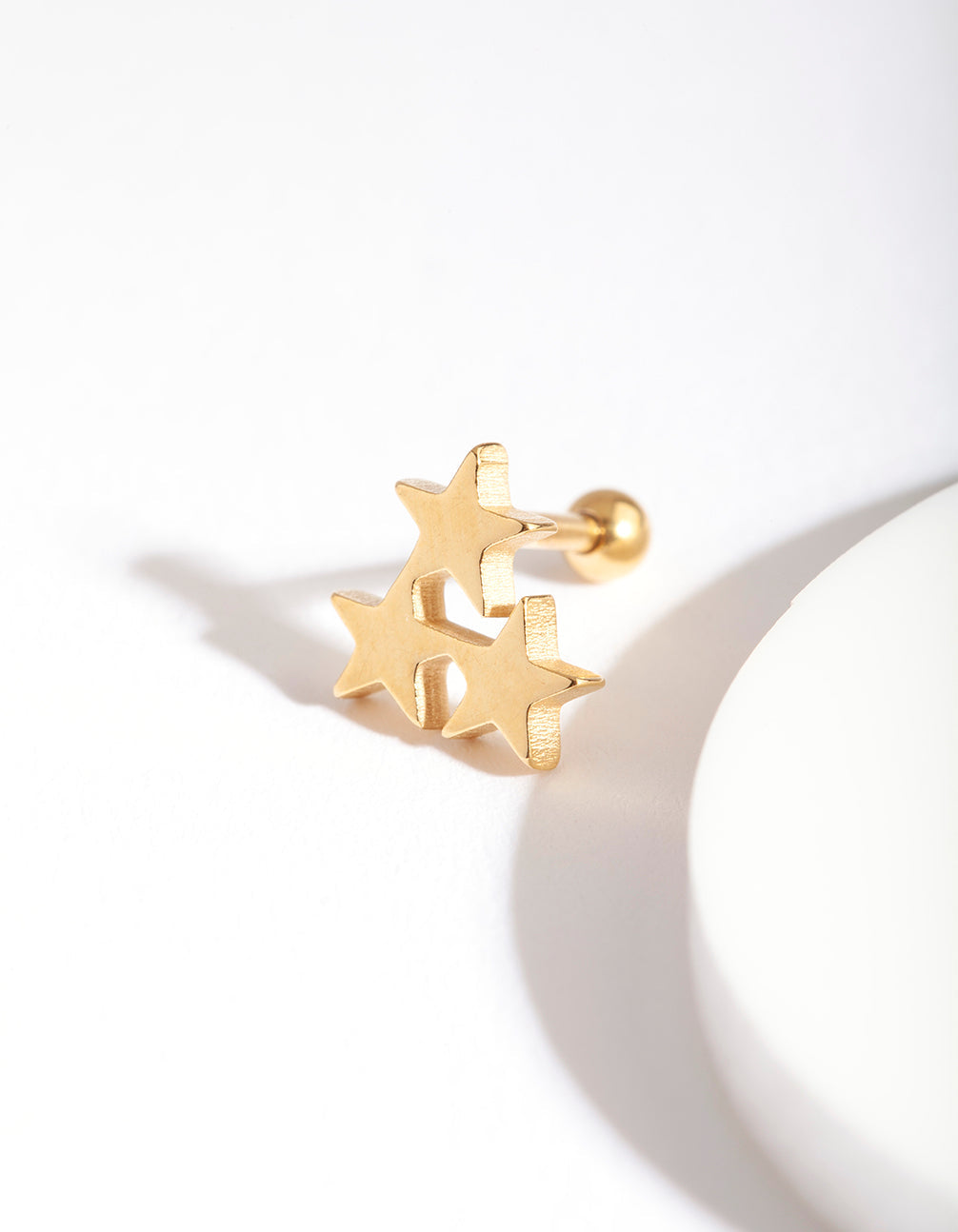 Gold Star Cluster Barbell Earring