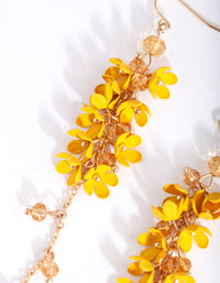 Gold Yellow Flower Cluster Drop Earring - link has visual effect only
