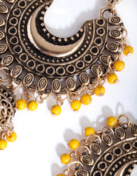 Antique Gold Bohemian Yellow Bead Earring - link has visual effect only