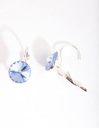 Silver and Blue Diamond Simulant Drop Earrings - link has visual effect only