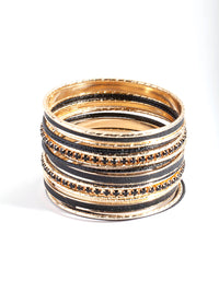 Gold and Black Bangle 20 Pack - link has visual effect only
