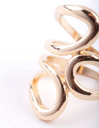 Gold Open Swirl Ring - link has visual effect only