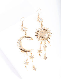 Gold Celestial Drop Earring - link has visual effect only