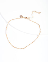 Gold Twisted Chain Choker Necklace - link has visual effect only