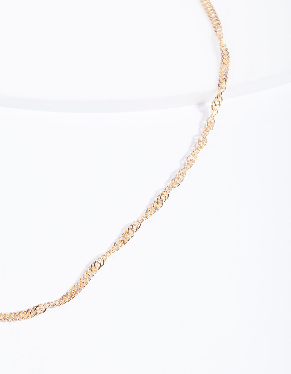 Gold Twisted Chain Choker Necklace