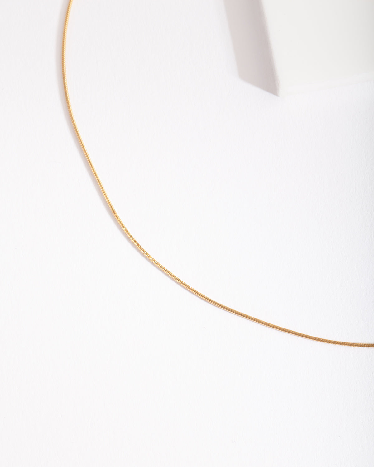 Gold Plated Sterling Silver Snake Chain Choker Necklace