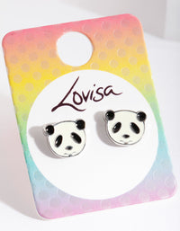 Kids Black White Panda Earring - link has visual effect only