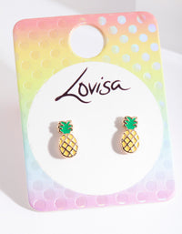 Kids Yellow Pineapple Earring - link has visual effect only