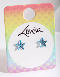 Kids Blue Star Earring - link has visual effect only
