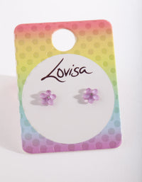 Kids Purple Flower Earring - link has visual effect only
