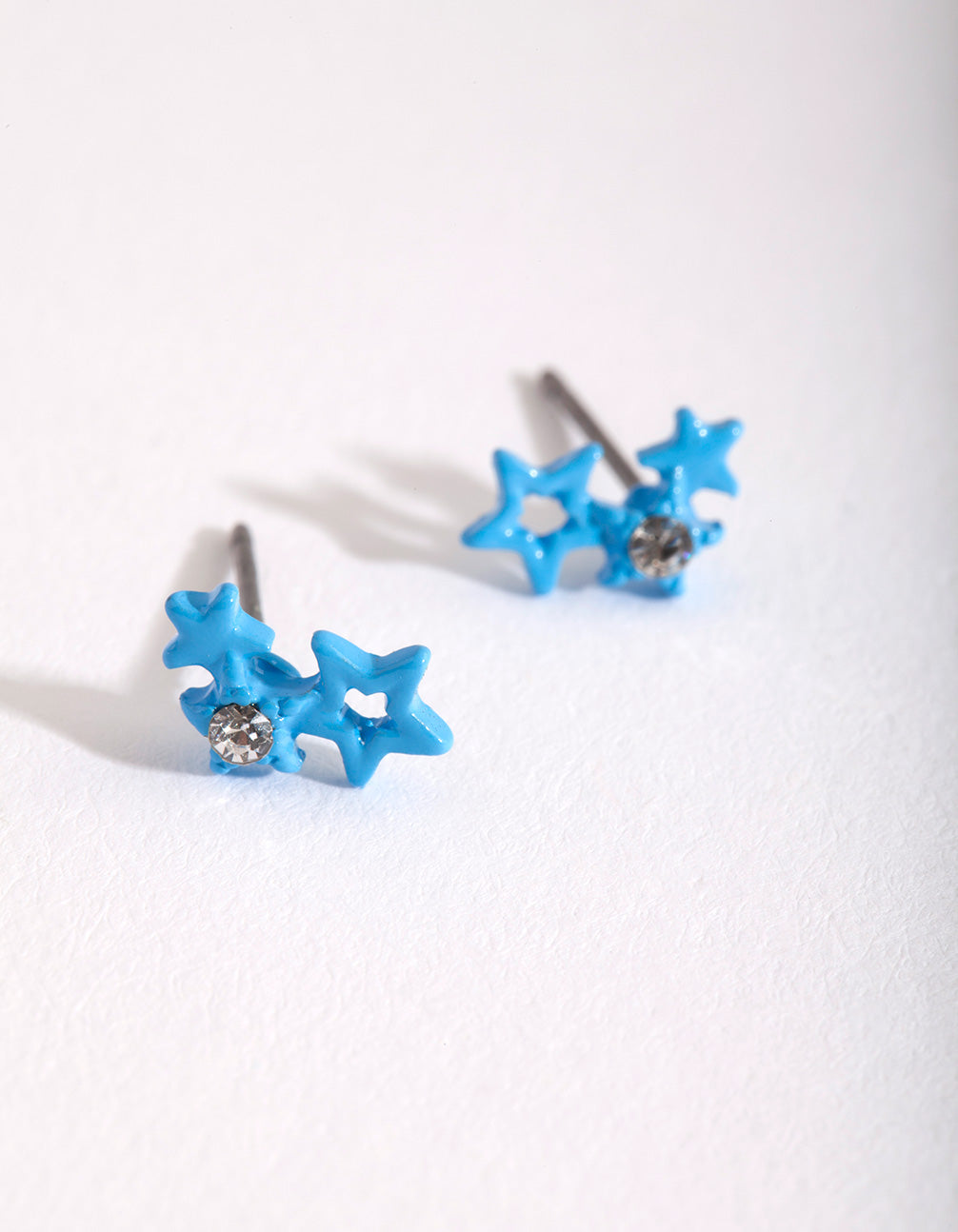 Kids Blue Star Stud Earring