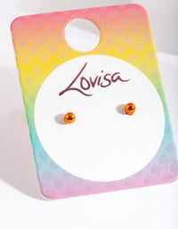 Kids Orange Metal Stud Earring - link has visual effect only