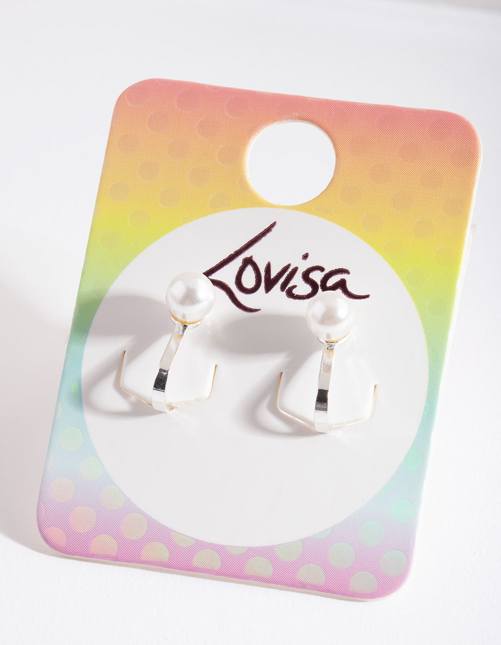 Kids Silver Pearl Clip-On Earring
