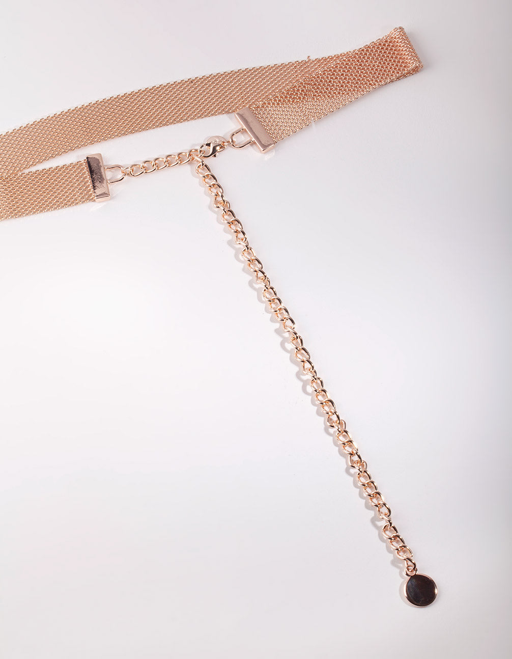 Rose Gold Mesh Chain Belt