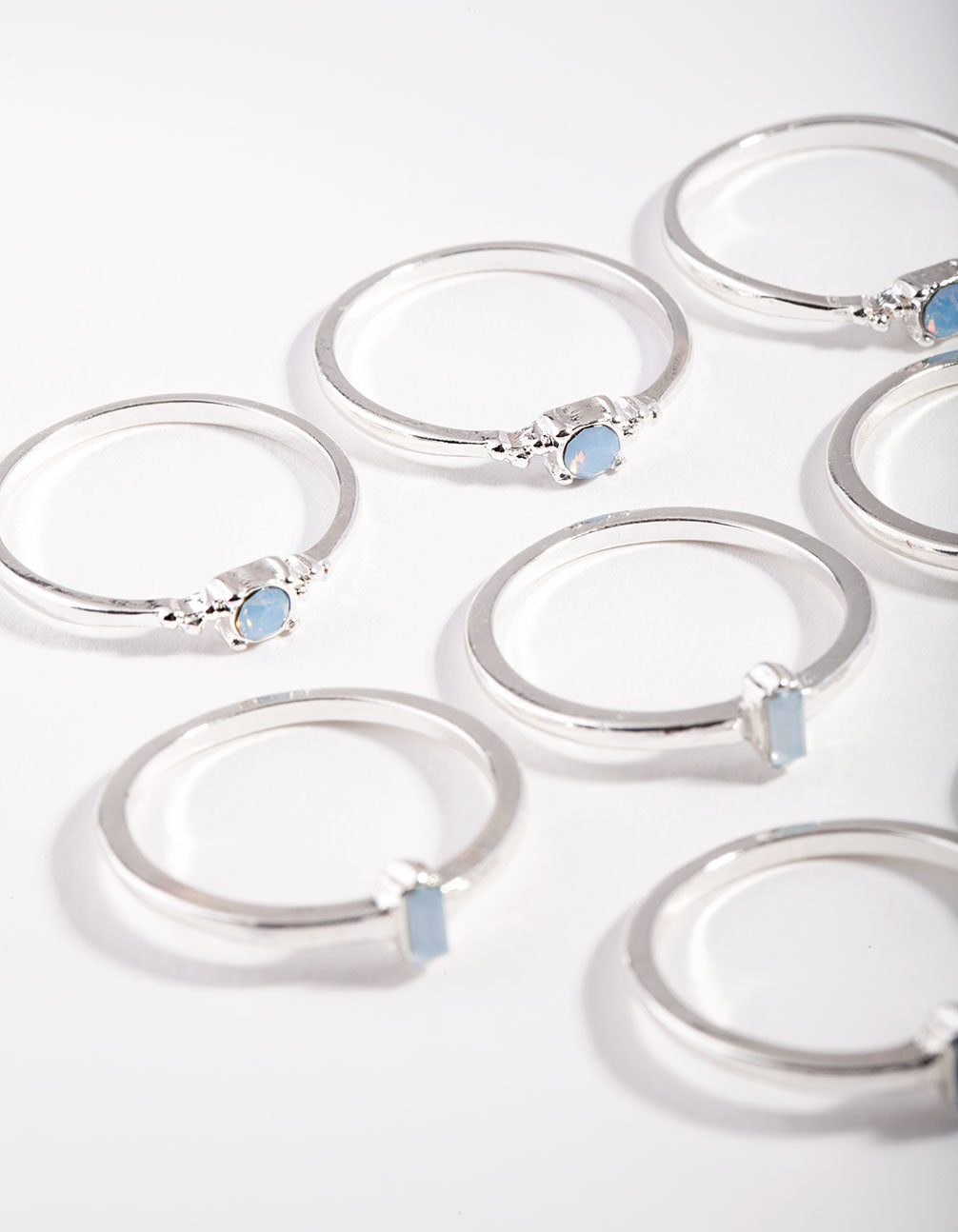 Silver Classic Opal Ring Pack