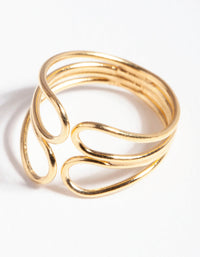 Gold Plated Sterling Silver Twisted Loop Cuff Earring - link has visual effect only