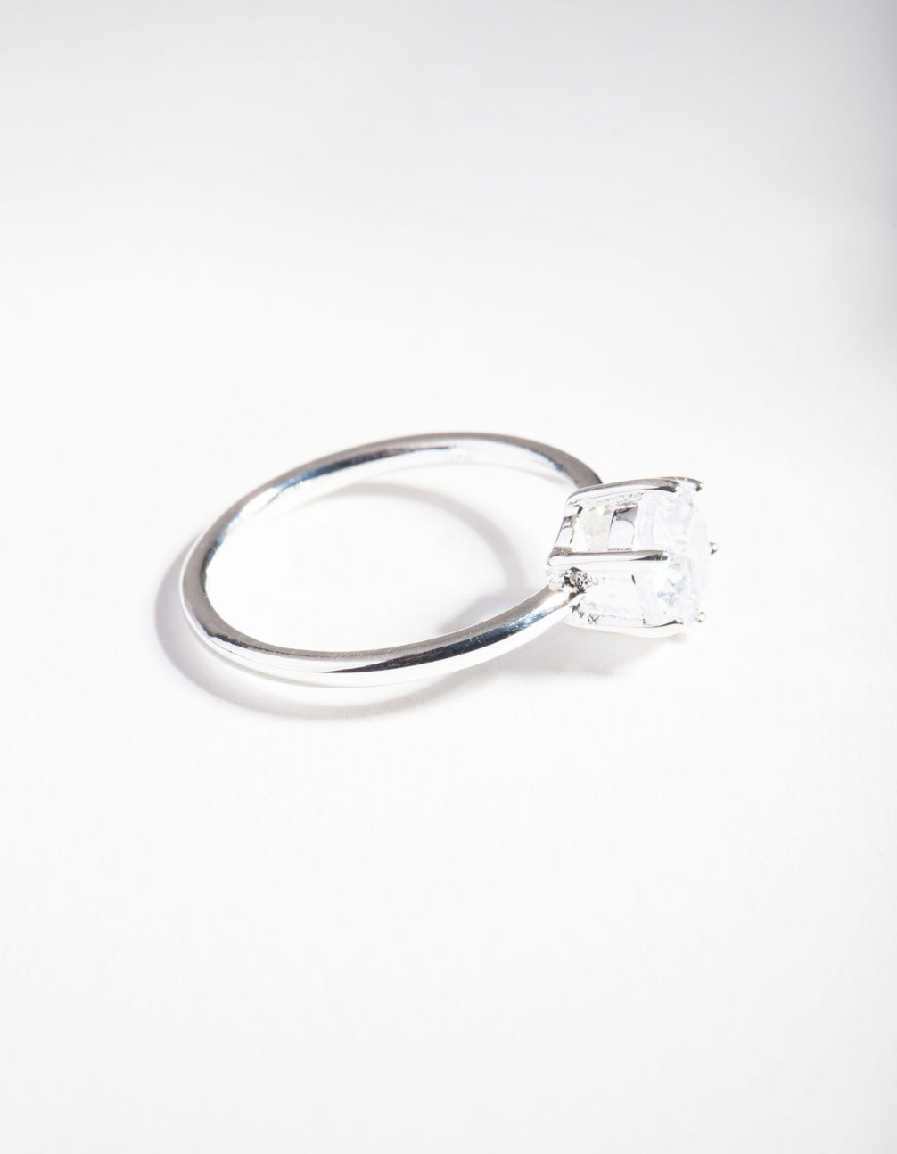 Sterling Silver Cubic Zirconia 6 Claw Ring