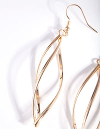 Gold Open Geometric Pod Earring - link has visual effect only
