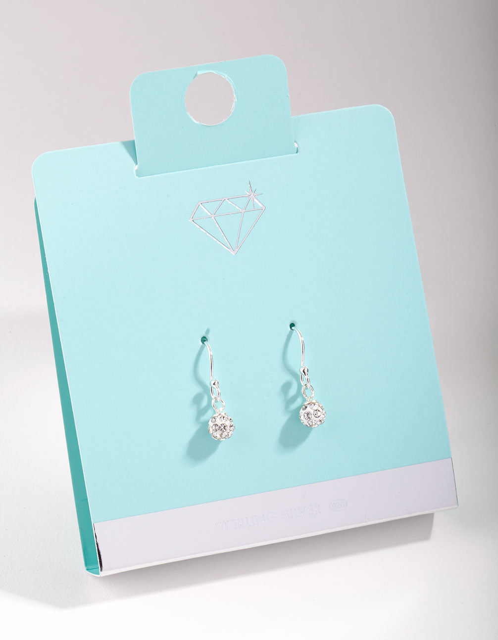 Sterling Silver Fireball Drop Earrings