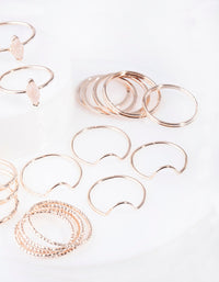 Rose Gold Rose Quartz Ring Pack - link has visual effect only