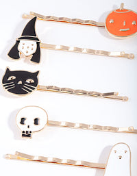 Gold Halloween Hair Slide 6 Pack - link has visual effect only