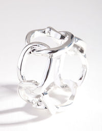 Real Silver Plated Wide Rectangle Ring - link has visual effect only