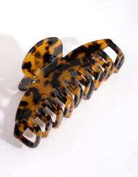 Acrylic Tortoiseshell Bar Line Claw - link has visual effect only