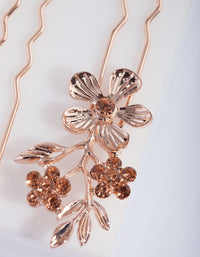 Rose Gold Flower Pins - link has visual effect only