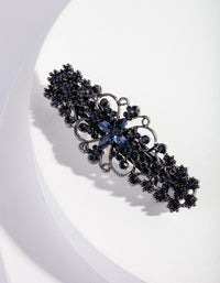 Gunmetal Blue Deco Hair Clip - link has visual effect only