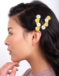 Gold Yellow Daisy Hair Clip 2 Pack - link has visual effect only