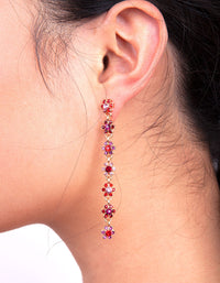 Red Daisy Chain Earring - link has visual effect only