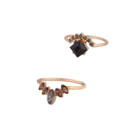 Vintage Gem Black Ring Stack - link has visual effect only