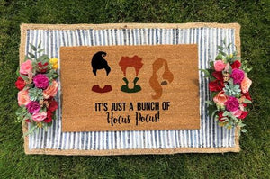 Hocus Pocus Inspired Doormat- It's Just a Bunch of Hocus Pocus!
