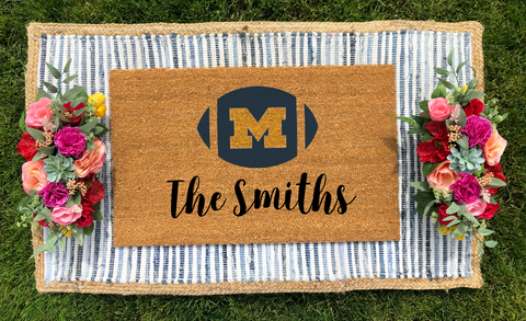 U of M Football- Personalized Doormat
