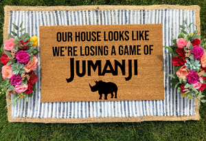 Our House Looks Like We're Losing a Game of Jumanji Doormat