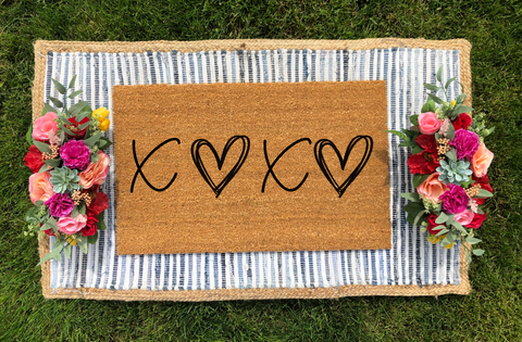 XOXO- Valentine's Day Doormat