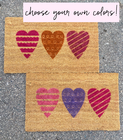 Heart Valentine's Day Doormat
