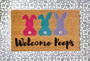 Welcome Peeps Easter Doormat