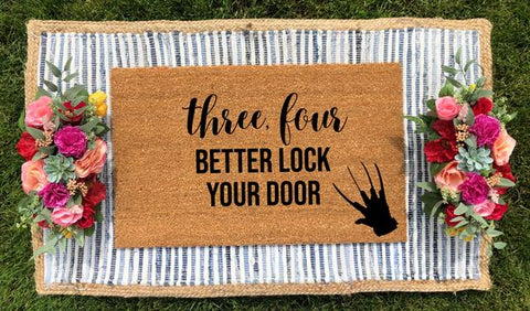 Freddy Krueger Inspired Doormat