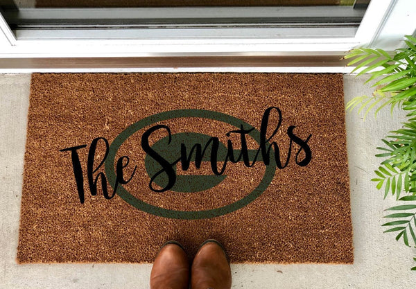 Personalized Green Bay Packer Doormat