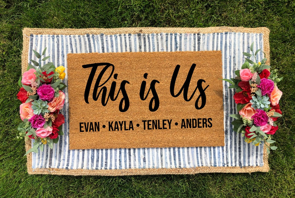 Personalized This is Us Mat Doormat
